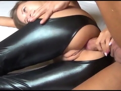 skinny swedish chick takes hot anal creampie
